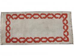 Tapis ancien art d�co Fran�ais nou� main 1940 7-5-8_0358